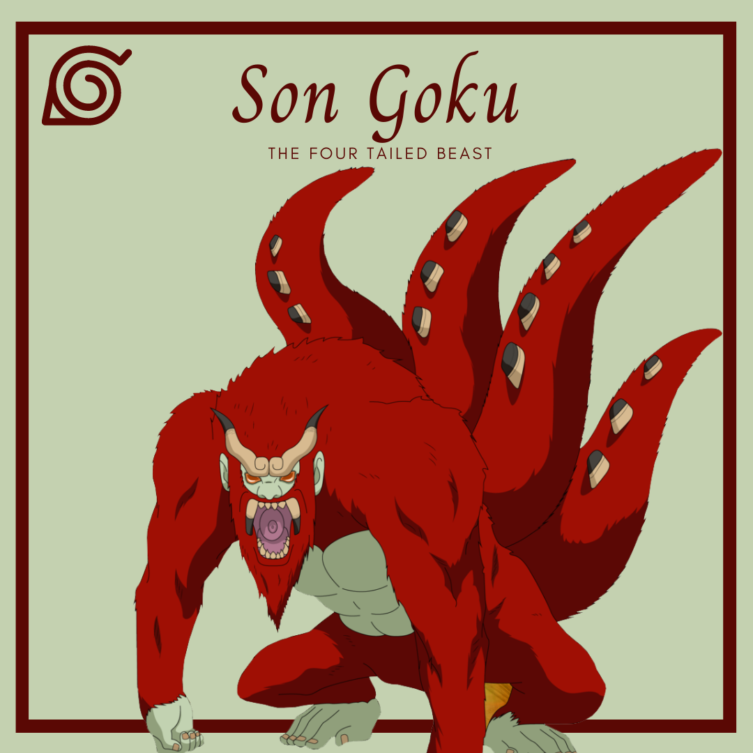The Tailed Beasts of Naruto Son Goku the four tailed beast AllAnimeMag