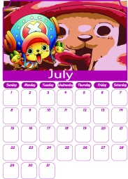 07 One Piece Calendar July 2018 - AllAnimeMag Chopper