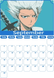09 Bleach Calendar September 2018