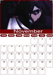 11 Akame ga Kill Calendar November 2018
