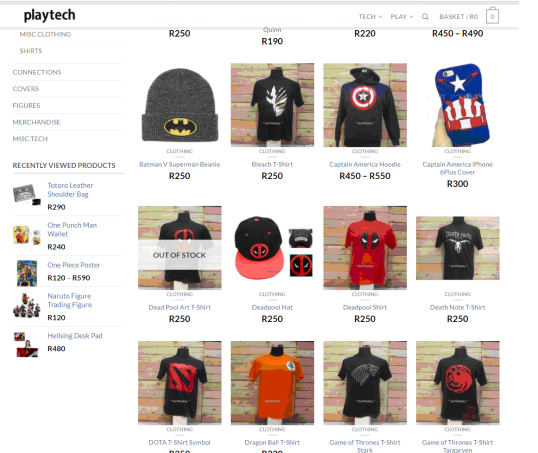 PlayTech Clothes
