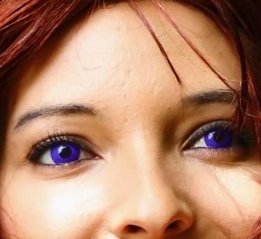Purple contacts for Kenshin