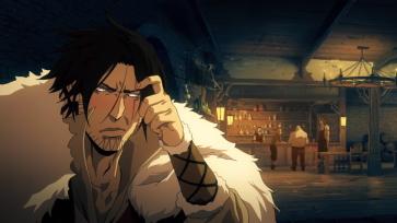 Castlevania anime Trevor Belmont drunk