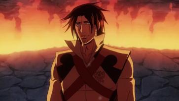 Castlevania anime Trevor Belmont fire