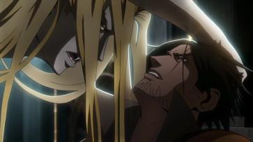 Castlevania anime Trevor vs Alucard