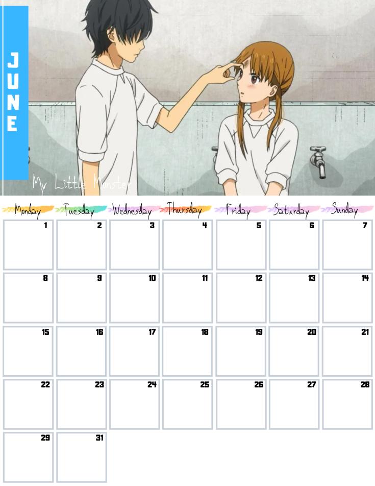 06 June Free 2020 Romance Anime Calendar AllAnimeMag