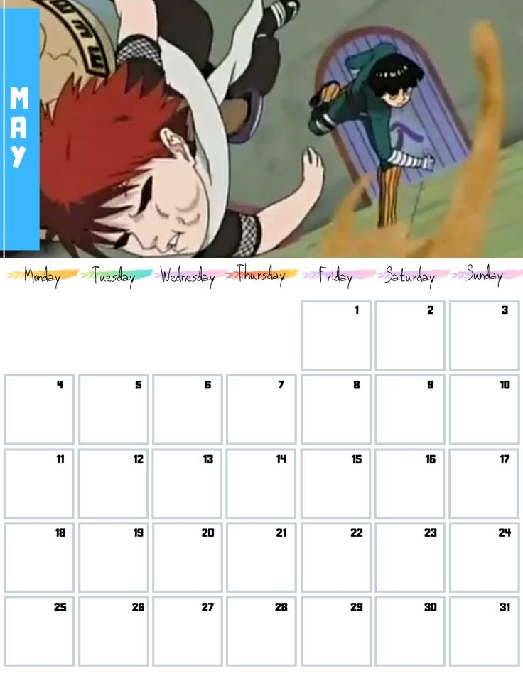05 May Free Naruto Calendar 2020 AllAnimeMag