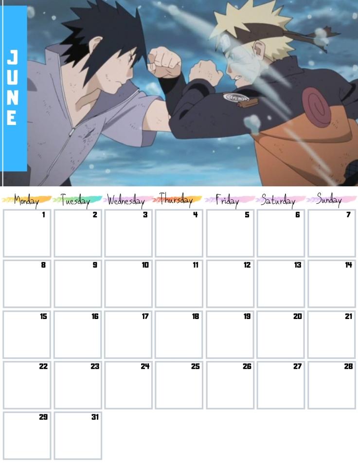 06 June Free Naruto Calendar 2020 AllAnimeMag
