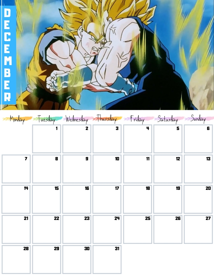 12 December Free Dragon Ball Calendar 2020 AllAnimeMag