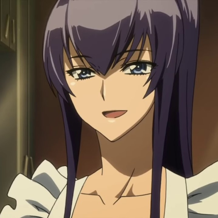 Saeko Busujima from Highschool of the Dead purple hair anime character