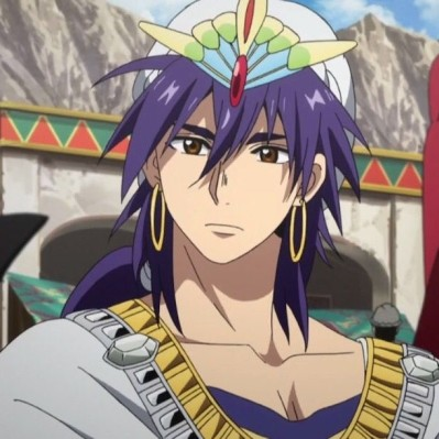 Sinbad Magi The Labyrinth of Magic purple hair anime character