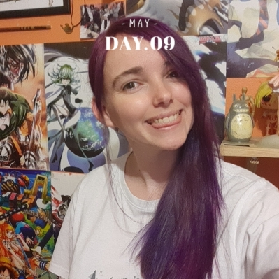 Tessa L Davies AllAnimeMag purple Hair