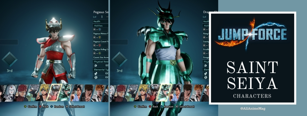 Jump Force Anime and anime characters @AllAnimeMag Saint Seiya