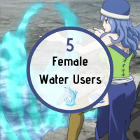 5 Female Anime Water Users