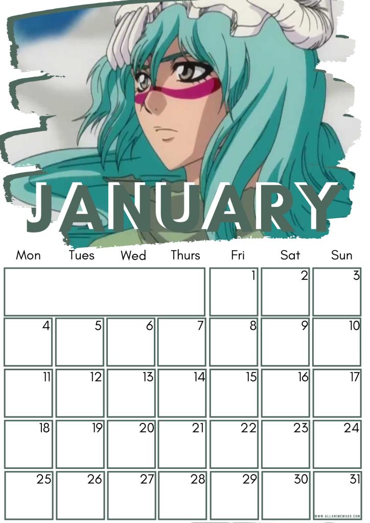 01 January Female Bleach Characters Free Downloadable Anime Calendar 2021 AllAnimeMag