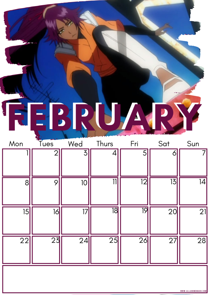 02 February Female Bleach Characters Free Downloadable Anime Calendar 2021 AllAnimeMag
