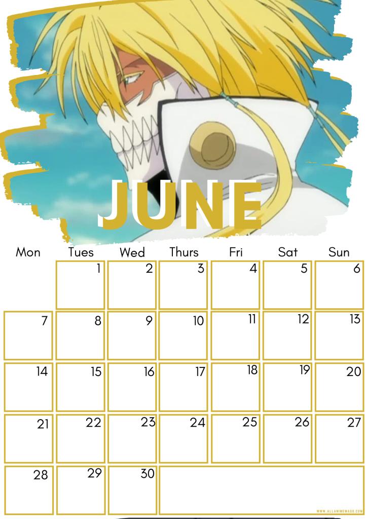 06 June Female Bleach Characters Free Downloadable Anime Calendar 2021 AllAnimeMag