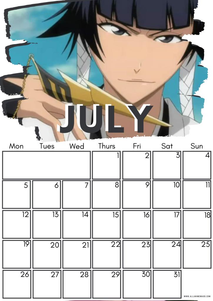 07 July Female Bleach Characters Free Downloadable Anime Calendar 2021 AllAnimeMag