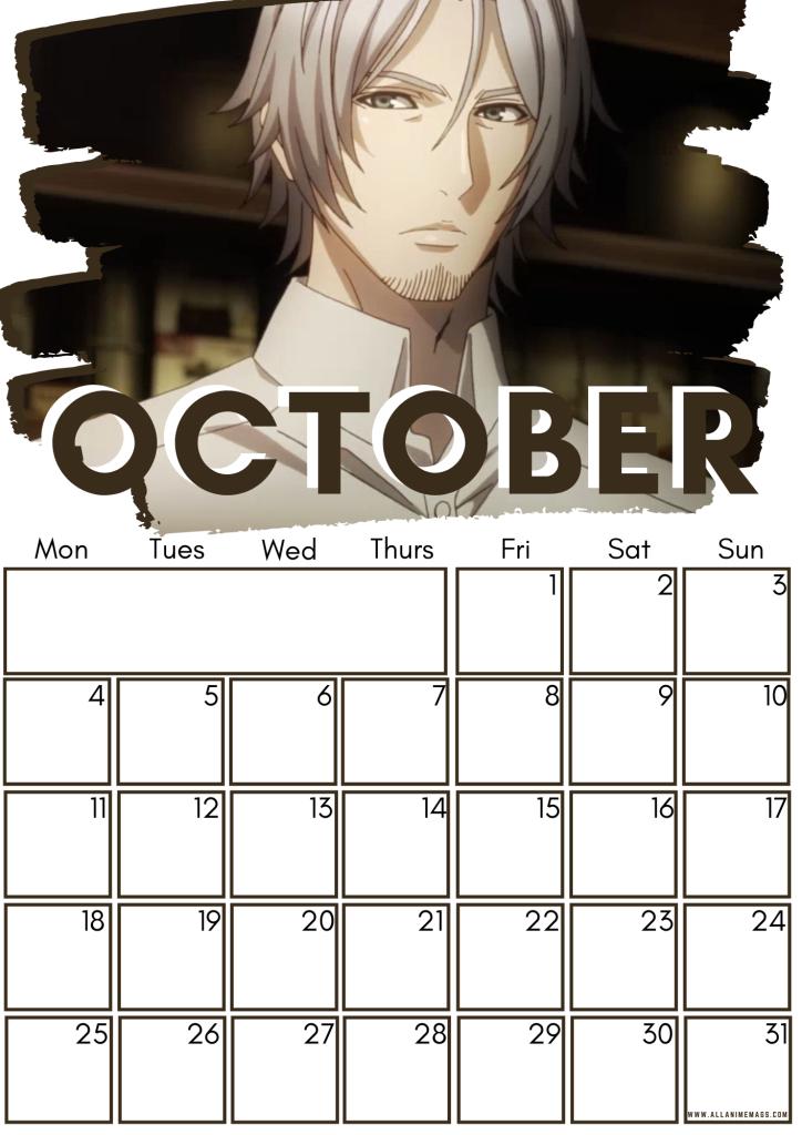 10 October Tokyo Ghoul Free Downloadable Anime Calendar 2021 AllAnimeMag