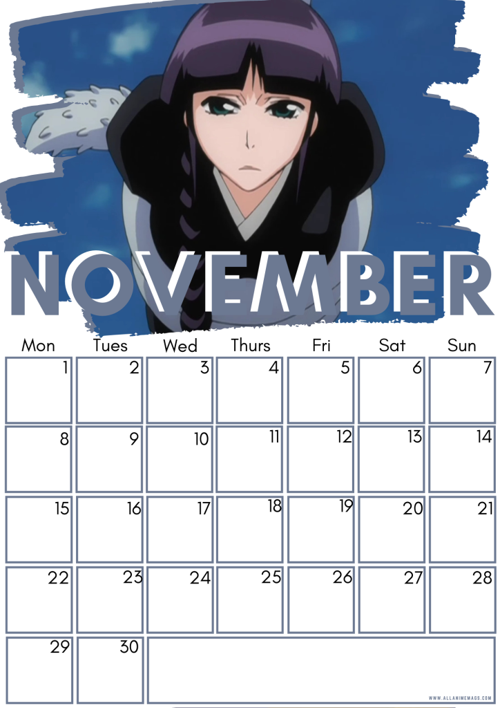 11 November Female Bleach Characters Free Downloadable Anime Calendar 2021 AllAnimeMag