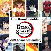 Demon Slayer Free Downloadable Anime Calendar 2021