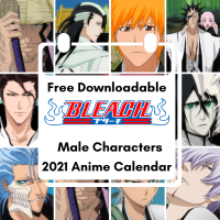 Male Bleach Characters Free Downloadable Anime Calendar 2021