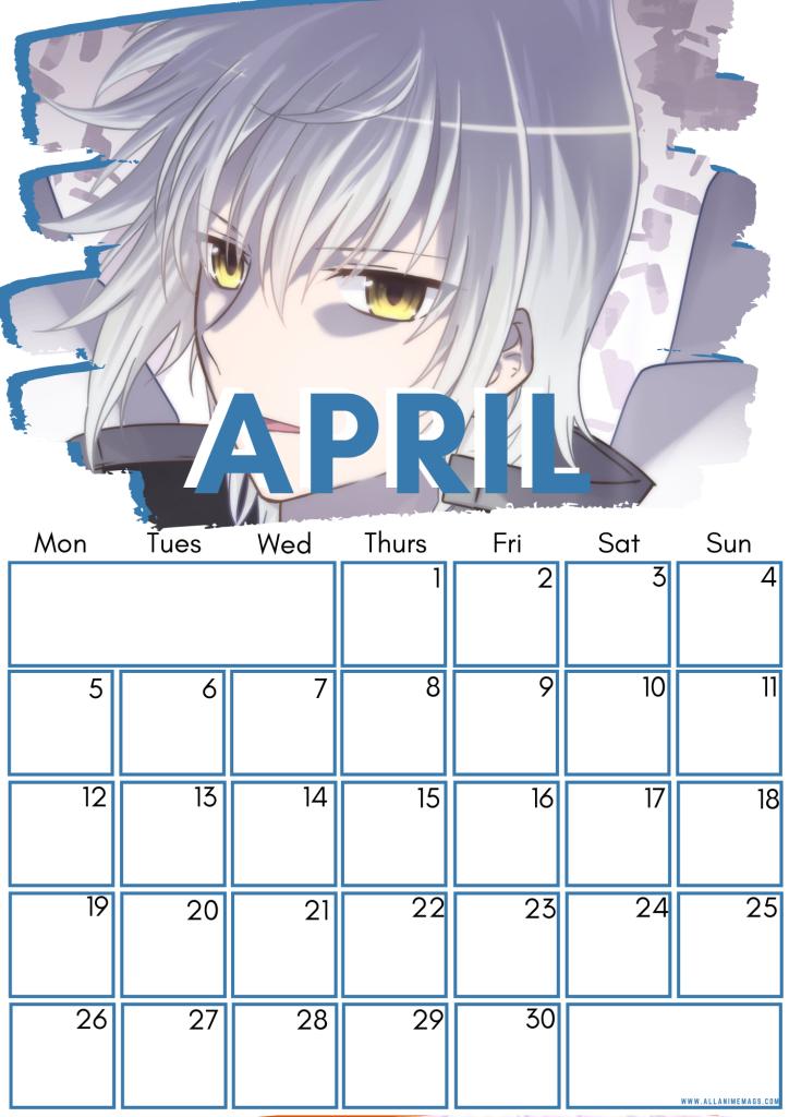 04 High school DxD calendar April 2021